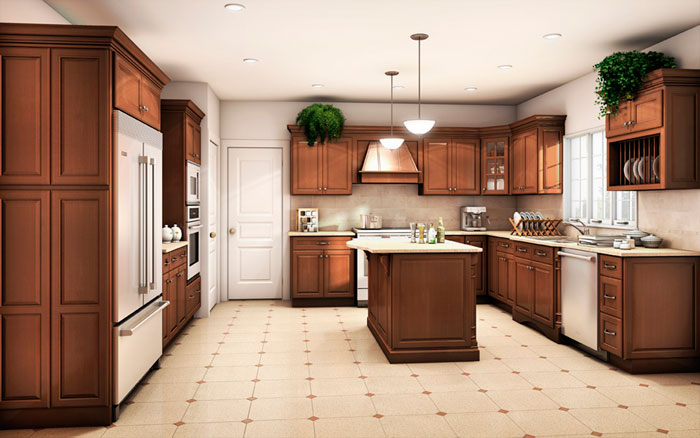 How to create a custom look with stock kitchen cabinets for Stock kitchen cabinets