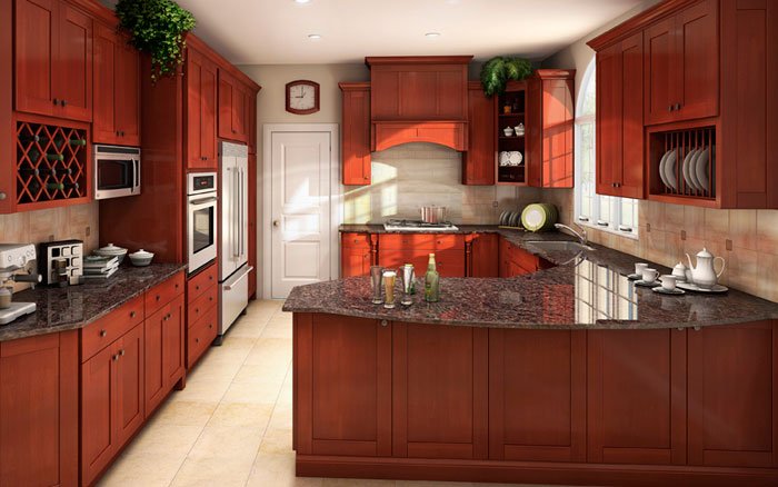 fabuwood cabinets shaker brandy - Arizona Kitchen Cabinets